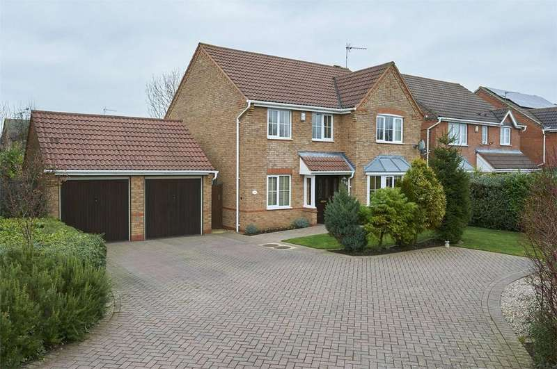 4 Bedrooms Detached House for sale in Grindleford Close, Desborough, Kettering, Northamptonshire