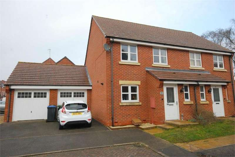 3 Bedrooms Semi Detached House for sale in Brodie Close, RUGBY, Warwickshire