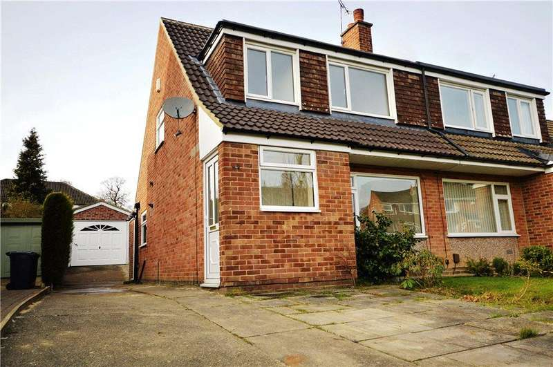 3 Bedrooms Semi Detached House for sale in Hunger Hills Drive, Horsforth, Leeds