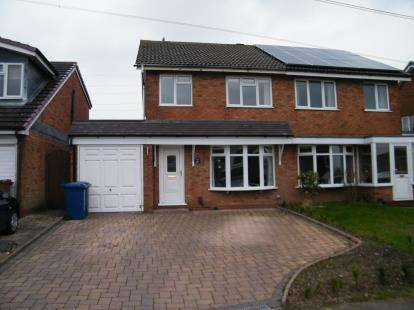 3 Bedrooms Semi Detached House for sale in Kingsdown Road, Chase Terrace, Burntwood