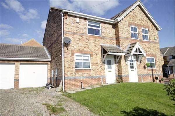 2 Bedrooms Semi Detached House for sale in Bluebell Close, Leadgate, Consett