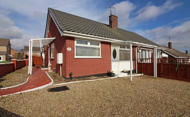 2 Bedrooms Semi Detached Bungalow for sale in Royston Green, North Walsham