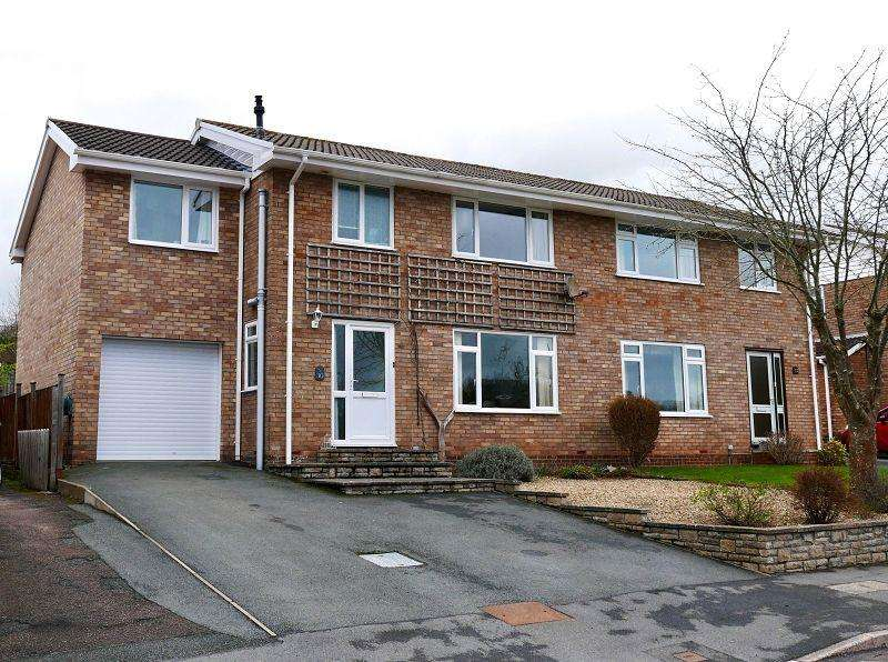4 Bedrooms Semi Detached House for sale in Beech Grove, Brecon, Powys.