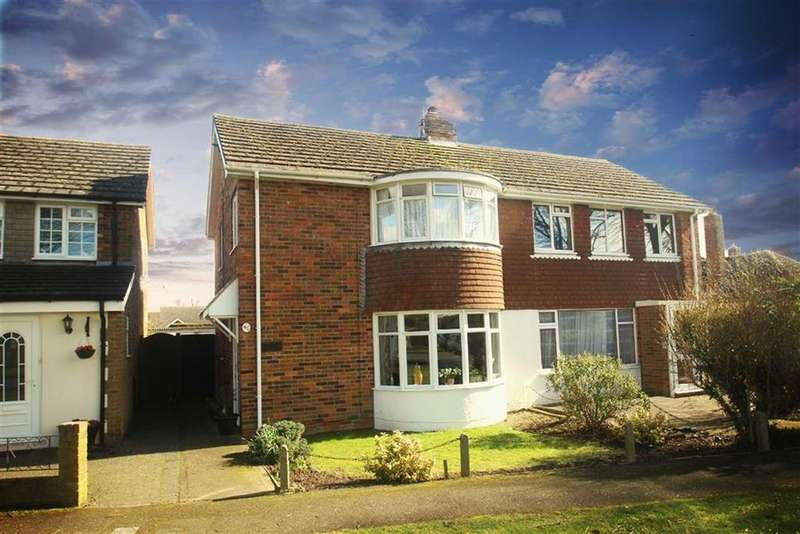 3 Bedrooms Semi Detached House for sale in Old Manor Road, Rustington, West Sussex