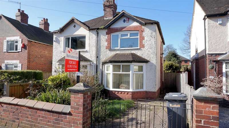 2 Bedrooms Semi Detached House for sale in St. Georges Avenue, Wolstanton, Newcastle, Staffs