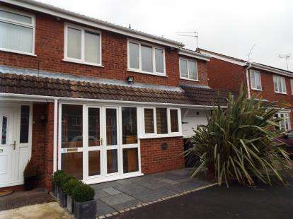 4 Bedrooms Semi Detached House for sale in Cheswick Close, Redditch, Worcestershire
