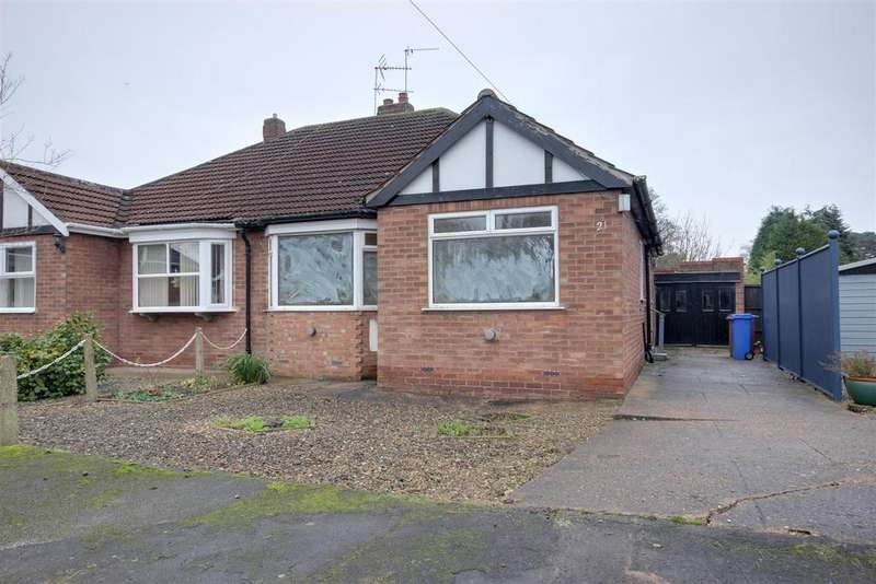 2 Bedrooms Semi Detached Bungalow for sale in Voases Close, Anlaby