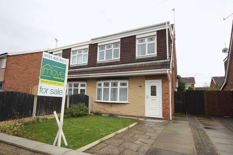 3 Bedrooms Semi Detached House for sale in Kestrel Close, Saughall Massie, Wirral