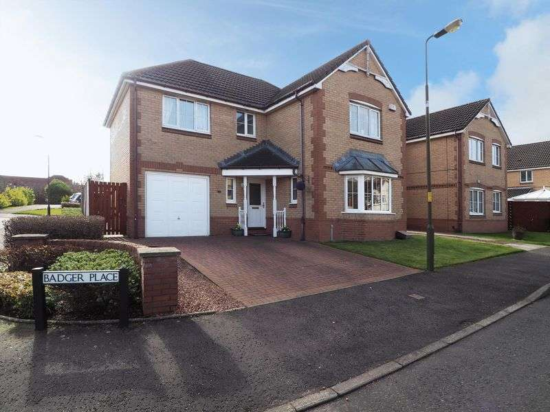 4 Bedrooms Detached House for sale in Badger Place, Broxburn