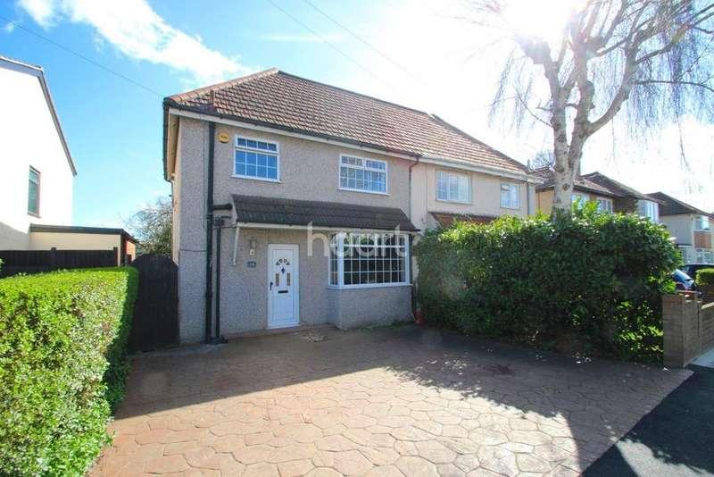3 Bedrooms Semi Detached House for sale in Gubbins Lane, Harold Wood