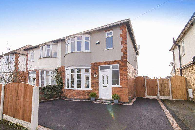 3 Bedrooms Semi Detached House for sale in Courtland Drive, Alvaston