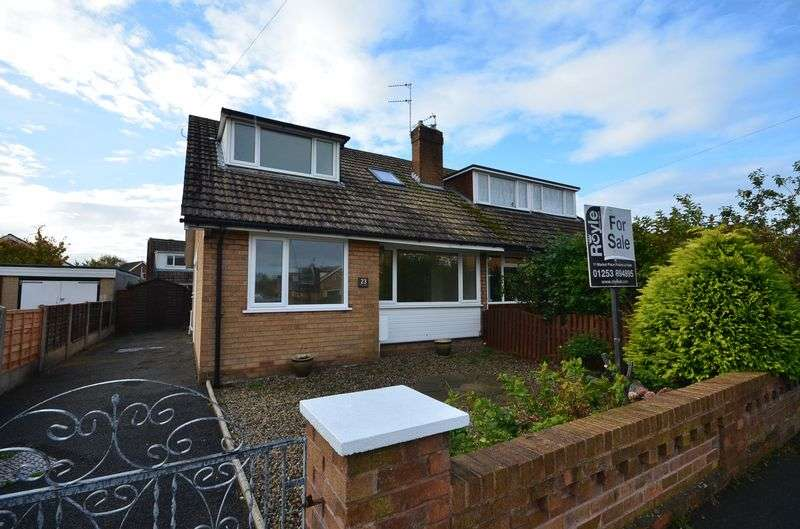 4 Bedrooms Semi Detached House for sale in 23 Rydal Road, Hambleton Lancs FY6 9BL