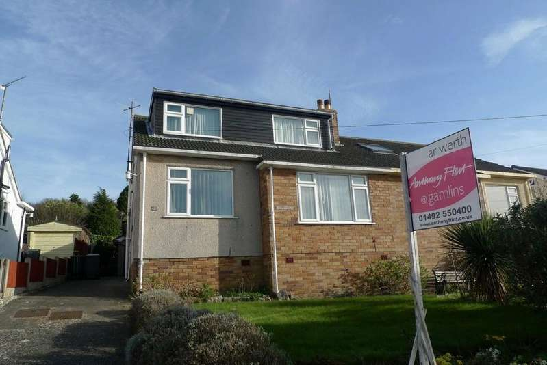 4 Bedrooms Semi Detached House for sale in Cambrian Drive, Rhos On Sea