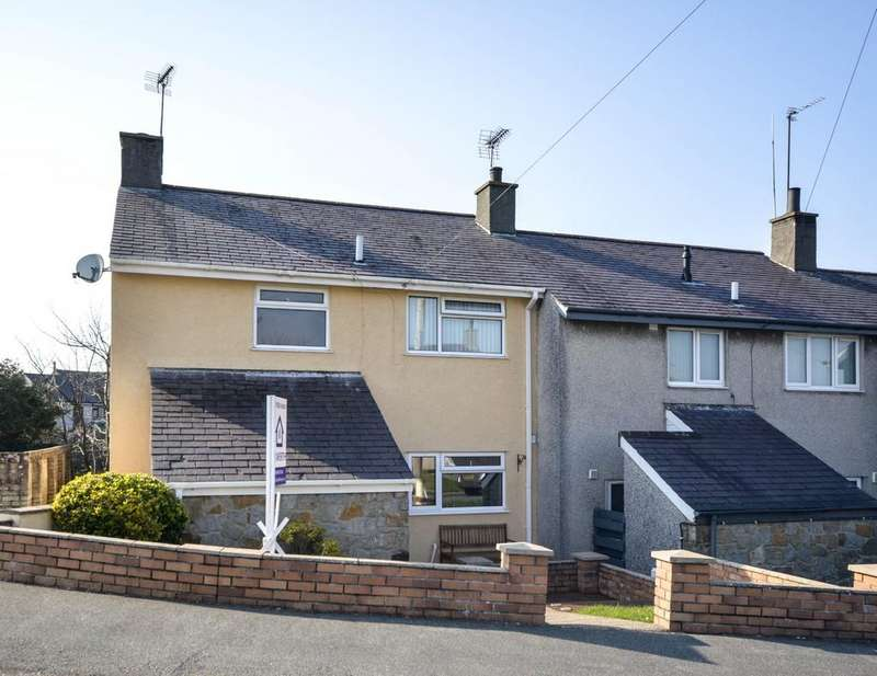 3 Bedrooms End Of Terrace House for sale in Y Garth, Llanerchymedd, North Wales