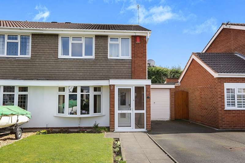 3 Bedrooms Semi Detached House for sale in Levington Close, Perton, Wolverhampton, WV6