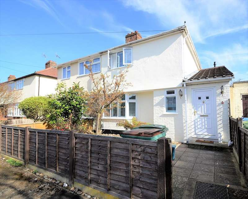 3 Bedrooms Semi Detached House for sale in Thrupps Avenue, HERSHAM VILLAGE KT12