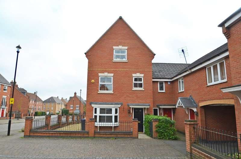 4 Bedrooms Semi Detached House for sale in Longstork Road, Coton Park, Rugby