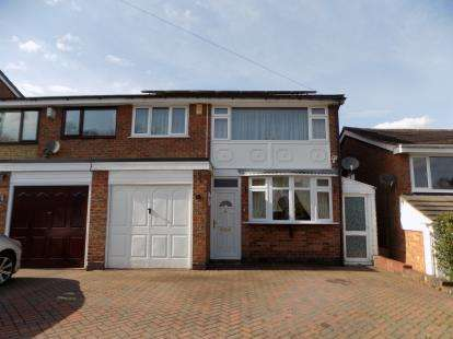 3 Bedrooms Semi Detached House for sale in Brabham Crescent, Sutton Coldfield, West Midlands, Sutton Coldfield
