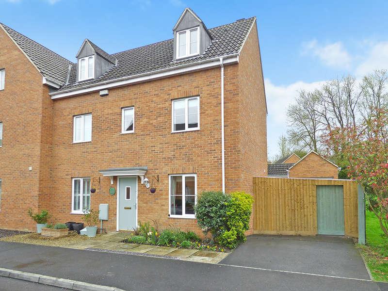 4 Bedrooms Semi Detached House for sale in Bashkir Road, Westbury, Wiltshire