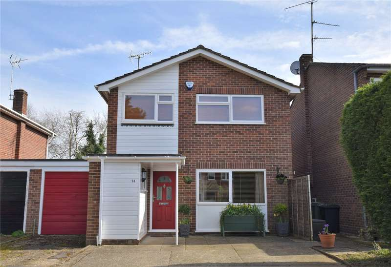 3 Bedrooms Link Detached House for sale in Garlands Close, Burghfield Common, Reading, Berkshire, RG7