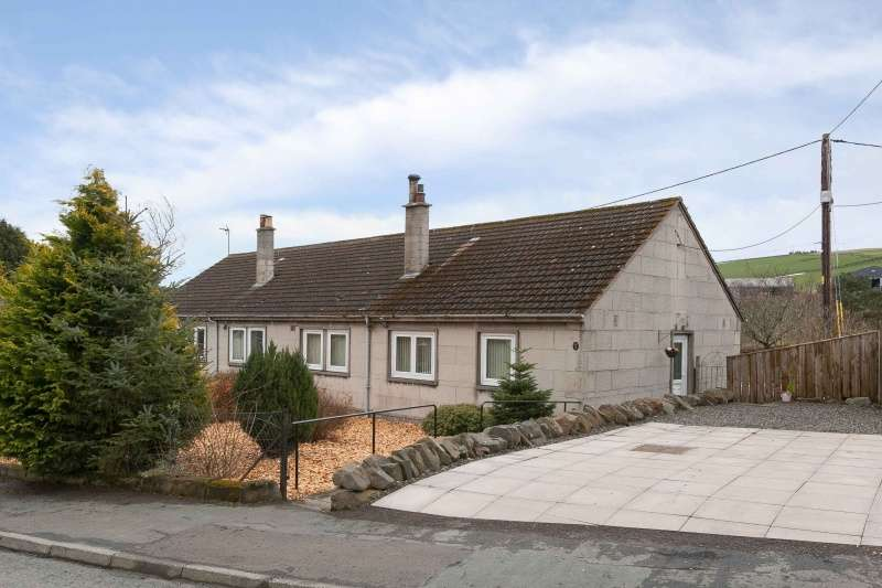 3 Bedrooms Semi Detached Bungalow for sale in Fleming Place, Fountainhall, Galashiels, Borders, TD1 2TA