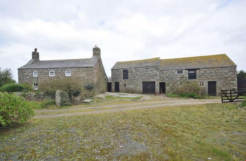 3 Bedrooms Farm House Character Property for sale in St Buryan, Nr. Penzance, West Cornwall, TR19
