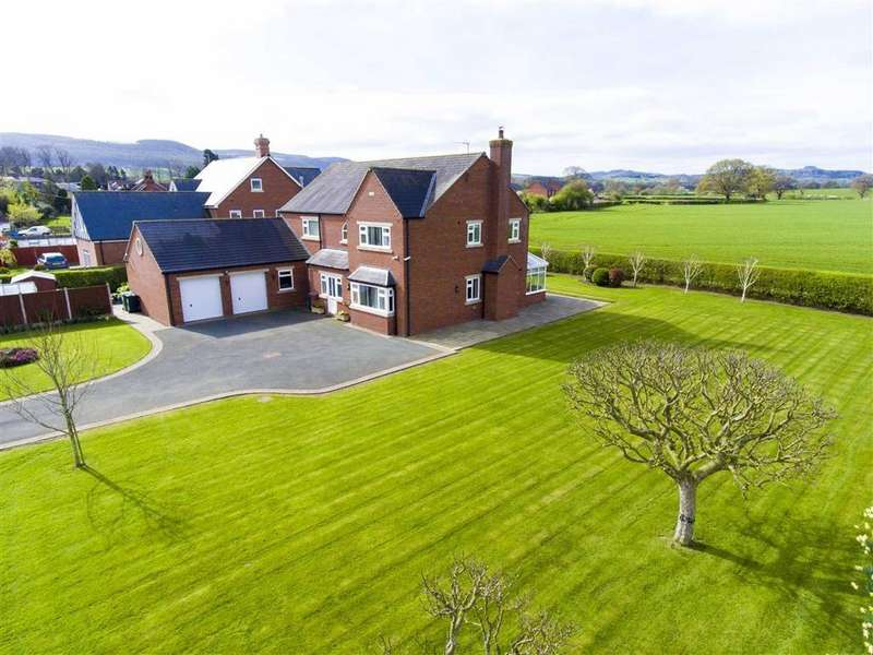 4 Bedrooms Detached House for sale in Horsebridge Road, Minsterley, Shrewsbury, Shropshire