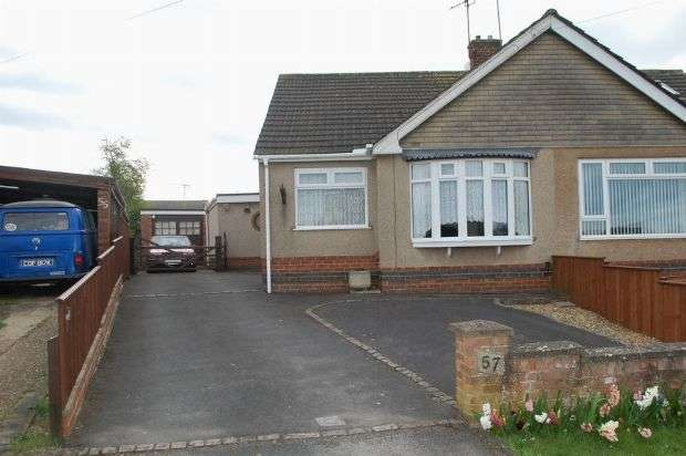3 Bedrooms Semi Detached Bungalow for sale in Rawley Crescent, Duston, Northampton NN5 6PU