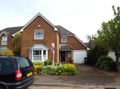 4 Bedrooms Detached House for sale in Gatehill Gardens, Luton, Bedfordshire