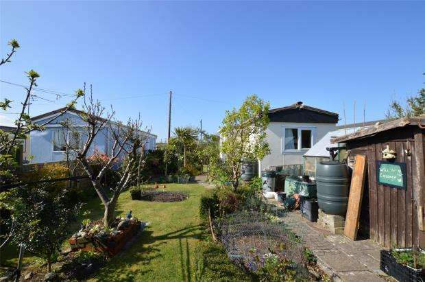 1 Bedroom Detached Bungalow for sale in Tremarle Home Park, North Roskear, Camborne, Cornwall