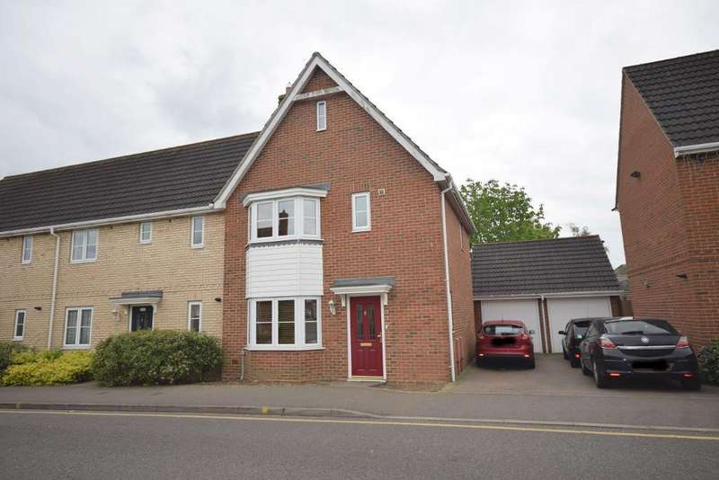 3 Bedrooms End Of Terrace House for sale in Woodlands Park Drive, Great Dunmow, CM6 1WS