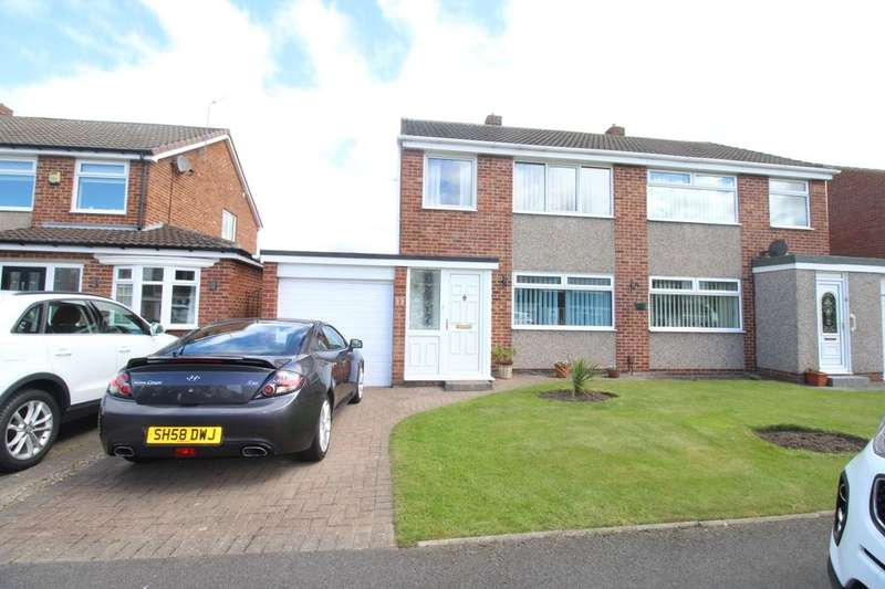 3 Bedrooms Semi Detached House for sale in Keilder Rise, Hemlington, Middlesbrough, TS8