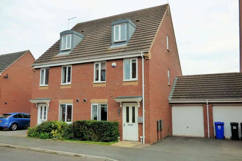 3 Bedrooms Semi Detached House for sale in Balata Way, Burton-on-Trent