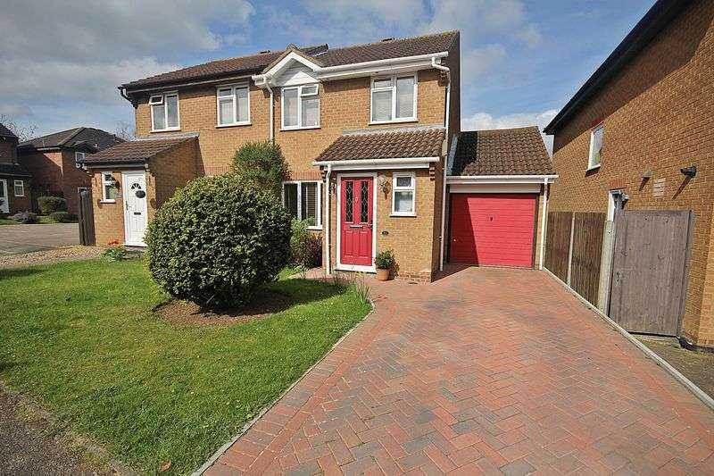 3 Bedrooms Semi Detached House for sale in Mersey Close, Flitwick