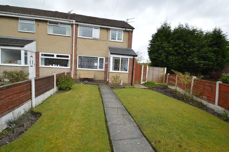 3 Bedrooms End Of Terrace House for sale in Naseby Walk, Whitefield, Manchester, M45