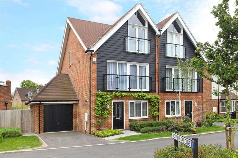 4 Bedrooms Semi Detached House for sale in Alderbank Drive, Godalming, Surrey, GU7