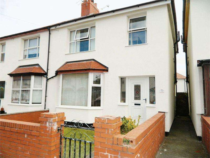 3 Bedrooms Semi Detached House for sale in Ellis Avenue, Rhyl