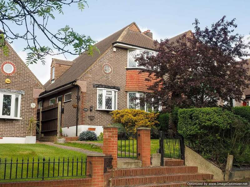 3 Bedrooms Link Detached House for sale in Stonecot Hill, Sutton SM3