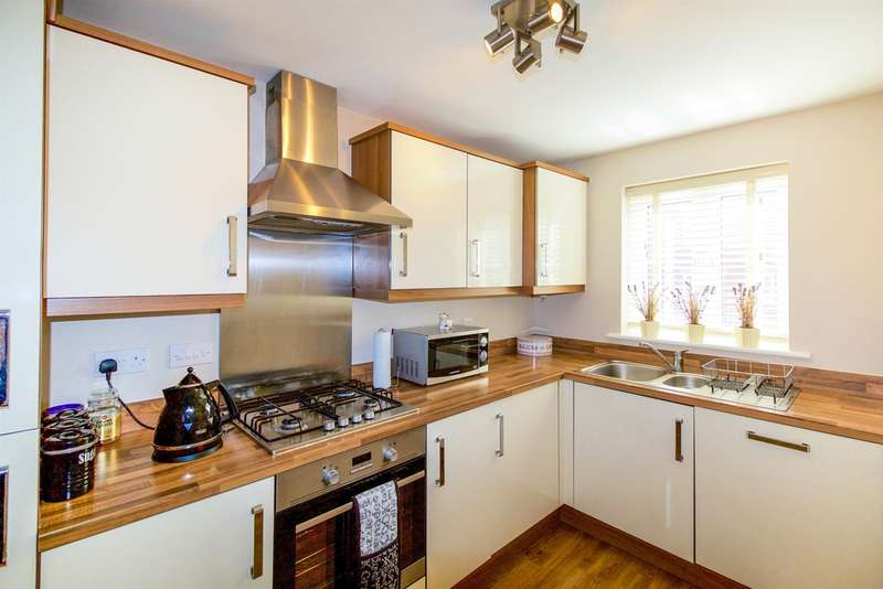 3 Bedrooms End Of Terrace House for sale in Gerddi'r Briallu, Coity, Bridgend