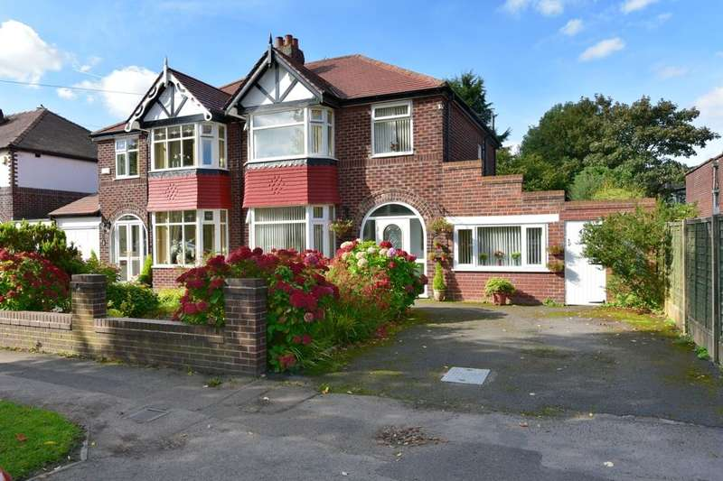 3 Bedrooms Semi Detached House for sale in Wilmslow Road, Heald Green, Stockport, SK8 3NP