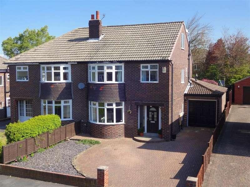 4 Bedrooms Semi Detached House for sale in Moseley Wood Drive, Cookridge, Leeds