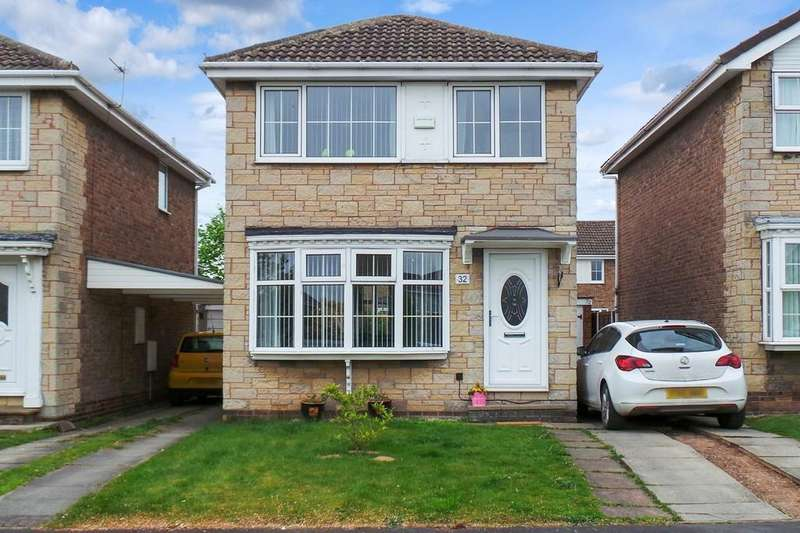 3 Bedrooms Detached House for sale in Wood Close, Thorpe Willoughby, Selby, YO8 9PU