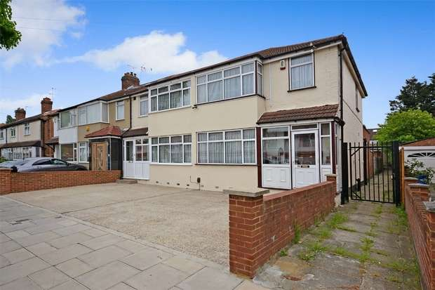 3 Bedrooms End Of Terrace House for sale in Empire Road, Perivale, GREENFORD, Middlesex