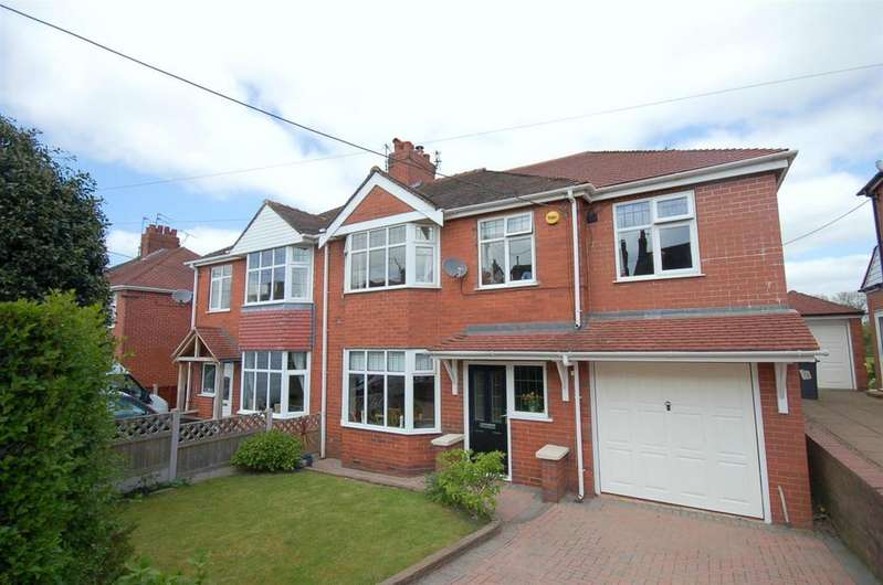 4 Bedrooms Semi Detached House for sale in Portland Drive, Scholar Green