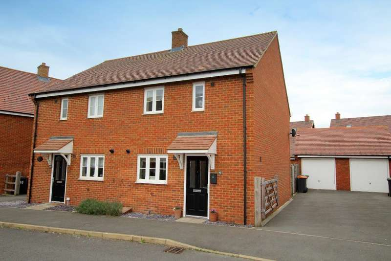 3 Bedrooms Semi Detached House for sale in Swan Road, Wixams, MK42 6BW