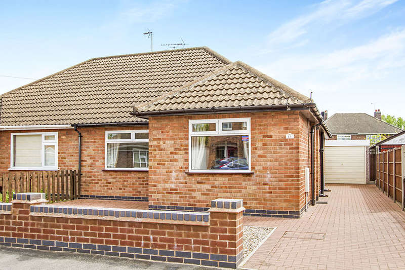 2 Bedrooms Semi Detached Bungalow for sale in Keswick Road, Blaby, Leicester, LE8