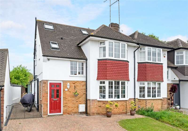 4 Bedrooms Semi Detached House for sale in Hill Rise, Esher, Surrey, KT10