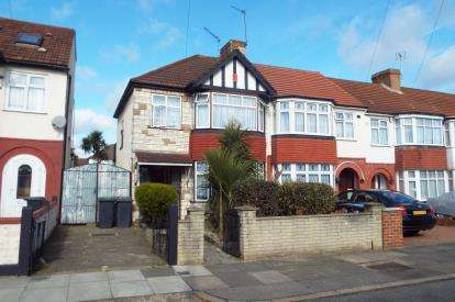 3 Bedrooms End Of Terrace House for sale in New Park Avenue, Palmers Green, London