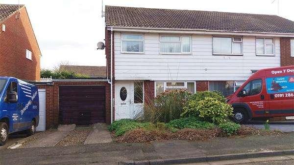 3 Bedrooms Semi Detached House for sale in Launceston Close, Kingston Park