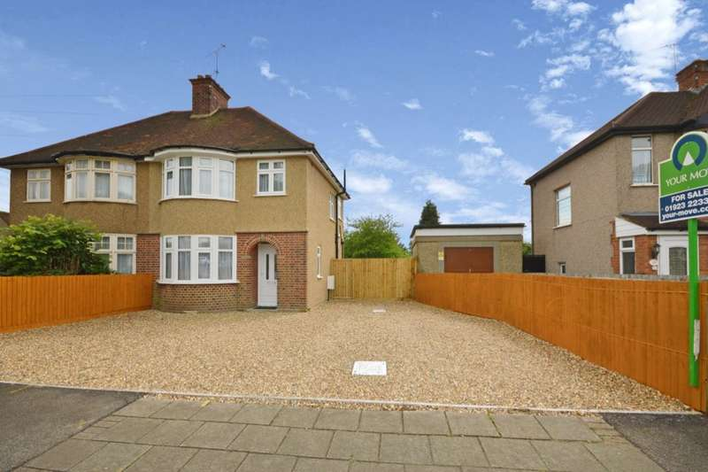 3 Bedrooms Semi Detached House for sale in Balmoral Road, Watford, WD24